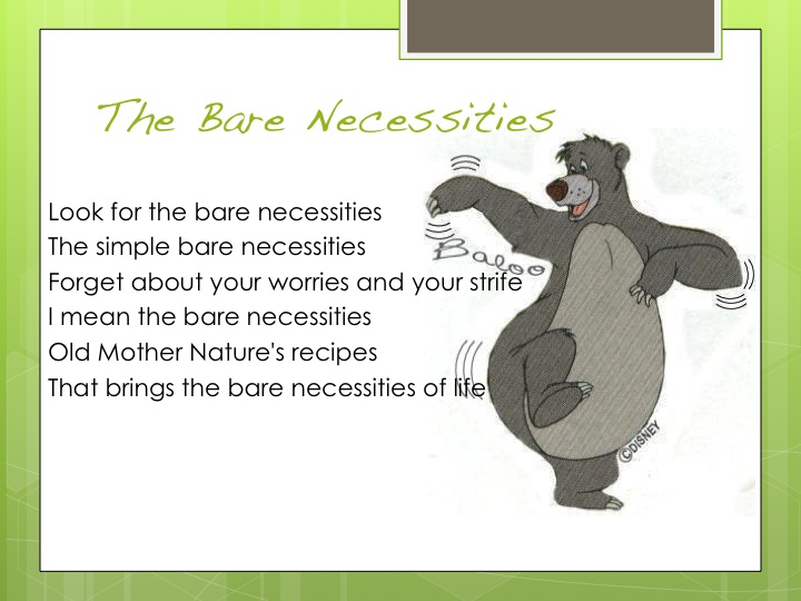 Bare Necessities - The Jungle Book Lyrics HD - YouTube